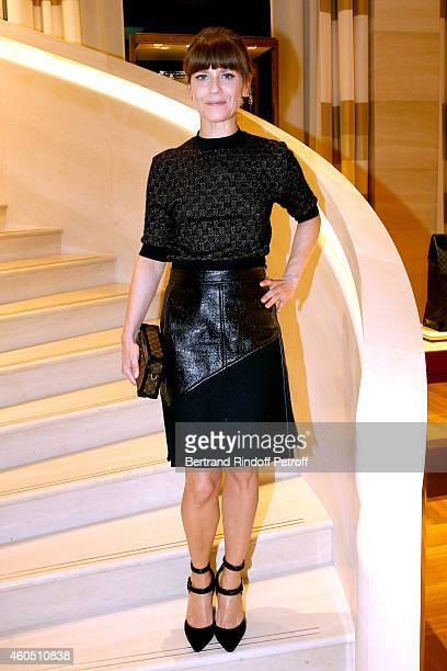 Actress marina Fois attends the Louis Vuitton Montaigne Store ReOpening party at Louis Vuitton Avenue Montaigne Store on December 15 2014 in Paris...