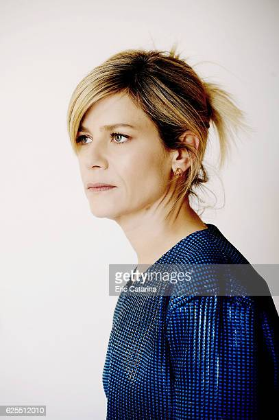 Actress Marina Fois is photographed for Self Assignment on May 15 2015 in Cannes France