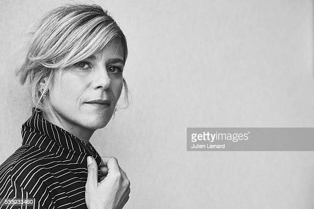 Actress Marina Fois is photographed for Self Assignment on May 17 2016 in Cannes France