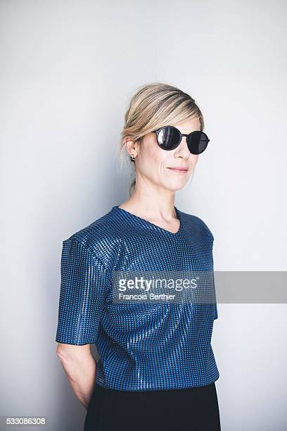 Actress Marina Fois is photographed for Self Assignment on May 20 2016 in Cannes France