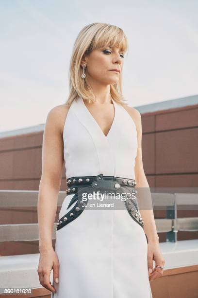 Actress Marina Fois is photographed for Self Assignment on May 22 2017 in Cannes France