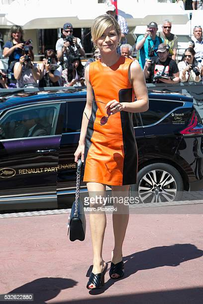 Actress Marina Fois is seen during the annual 69th Cannes Film Festival on May 19 2016 in Cannes France