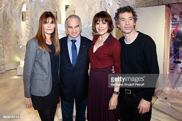 Actress Marina Hands producer of the movie Alain Terzian actors Fanny Ardant and Eric Elmosnino present the movie 'Chic ' during the 'Vivement...