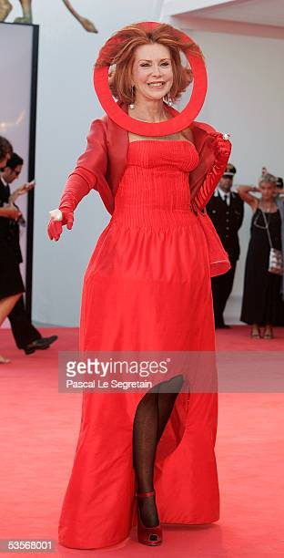 Actress Marina Ripa Di Meana arrives at the Opening Gala and 'Seven Swords' Premiere at the Palazzo Del Casino on the first day of the 62nd Venice...