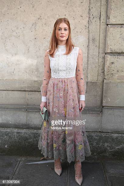 Actress Marina Ruy Barbosa attends the Valentino show as part of the Paris Fashion Week Womenswear Spring/Summer 2017 on October 2 2016 in Paris...