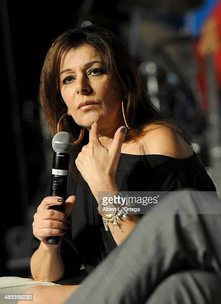 Actress Marina Sirtis at the 14th annual official Star Trek convention at the Rio Hotel Casino on August 7 2015 in Las Vegas Nevada