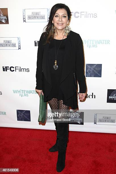 Actress Marina Sirtis attends the Los Angeles premiere of 'Match' held at the Laemmle Music Hall on January 14 2015 in Beverly Hills California