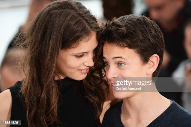 Actress Marine Vacth and actor Fantin Ravat attend the photocall for 'Jeune Jolie' during the 66th Annual Cannes Film Festival at the Palais des...