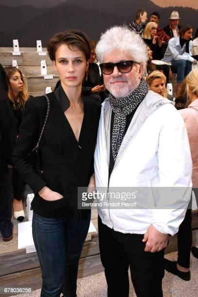 Actress Marine Vacth and Director Pedro Almodovar attend the Chanel Cruise 2017/2018 Collection Show at Grand Palais on May 3 2017 in Paris France