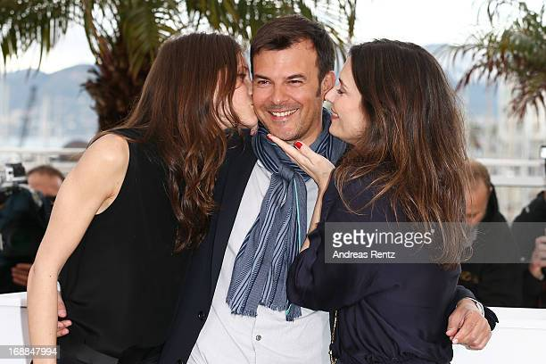 Actress Marine Vacth Director Francois Ozon and actress Geraldine Pailhas attend the 'Jeune Jolie' Photocall during the 66th Annual Cannes Film...