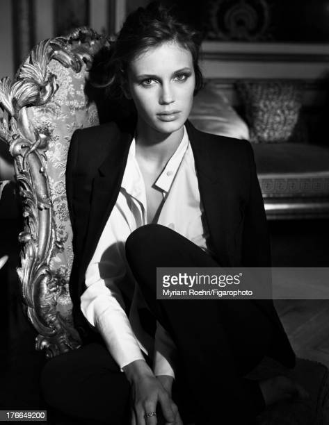 107106006 Actress Marine Vacth is photographed for Madame Figaro on June 13 2013 in Paris France Coat Makeup by Yves SaintLaurent PUBLISHED IMAGE...