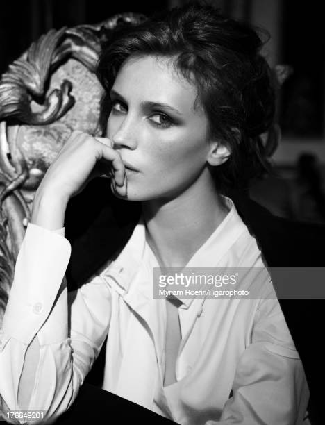 107106007 Actress Marine Vacth is photographed for Madame Figaro on June 13 2013 in Paris France Coat Makeup by Yves SaintLaurent CREDIT MUST READ...