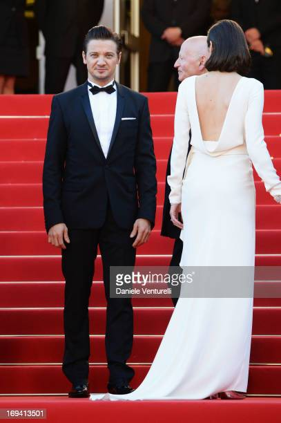 Actress Marion Cotillard and actor Jeremy Renner attend the Premiere of 'The Immigrant' at The 66th Annual Cannes Film Festival at Palais des...