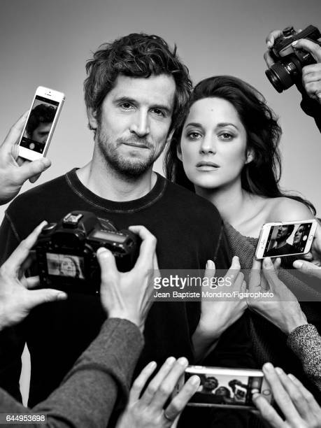 Actress Marion Cotillard and actor/director Guillaume Canet are photographed for Madame Figaro on October 18 2016 in Paris France Cotillard Sweater...