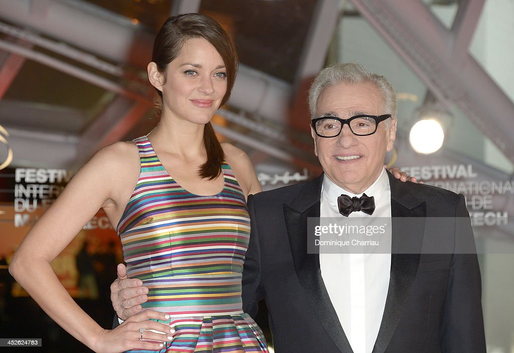 Actress <a gi-track='captionPersonalityLinkClicked' href=/galleries/search?phrase=Marion+Cotillard&family=editorial&specificpeople=215303 ng-click='$event.stopPropagation()'>Marion Cotillard</a> and director <a gi-track='captionPersonalityLinkClicked' href=/galleries/search?phrase=Martin+Scorsese&family=editorial&specificpeople=201976 ng-click='$event.stopPropagation()'>Martin Scorsese</a> attend the 'A Thousand Times Good Night' premiere during the 13th Marrakech International Film Festival on November 30, 2013 in Marrakech, Morocco.