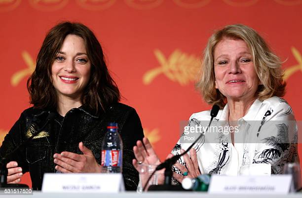 Actress Marion Cotillard and director Nicole Garcia attend the 'From The Land And The Moon ' Press Conference during the 69th annual Cannes Film...