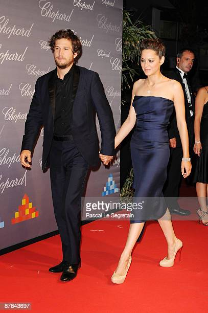 Actress Marion Cotillard and husband/actor Guillaume Canet attends the The Chopard Trophy held at the Martinez Hotel during the 62nd International...