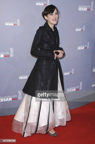 Actress Marion Cotillard arrives at Cesar Film Awards 2013 at Theatre du Chatelet on February 22 2013 in Paris France