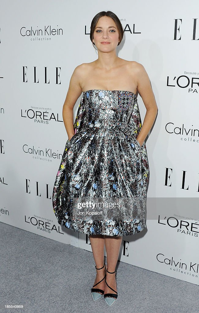 Actress Marion Cotillard arrives at ELLE Celebrates 20th Annual Women In Hollywood Event at Four Seasons Hotel Los Angeles at Beverly Hills on October 21, 2013 in Beverly Hills, California.