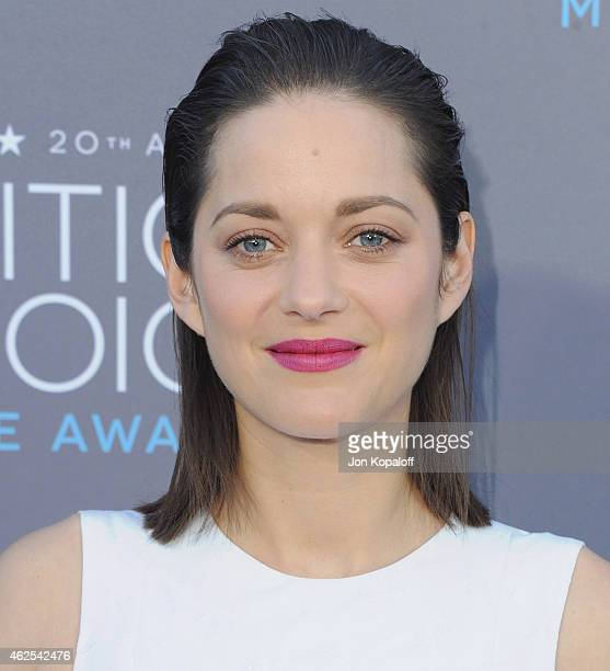 Actress Marion Cotillard arrives at the 20th Annual Critics' Choice Movie Awards at Hollywood Palladium on January 15 2015 in Los Angeles California