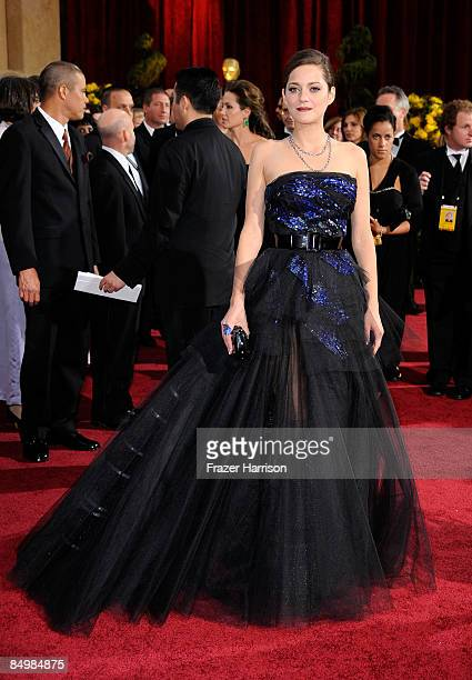Actress Marion Cotillard arrives at the 81st Annual Academy Awards held at Kodak Theatre on February 22 2009 in Los Angeles California