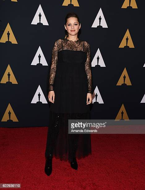 Actress Marion Cotillard arrives at the Academy of Motion Picture Arts and Sciences' 8th Annual Governors Awards at The Ray Dolby Ballroom at...