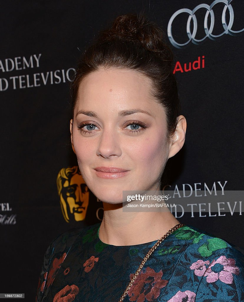 Actress Marion Cotillard arrives at the BAFTA Los Angeles 2013 Awards Season Tea Party held at the Four Seasons Hotel Los Angeles on January 12, 2013 in Los Angeles, California.