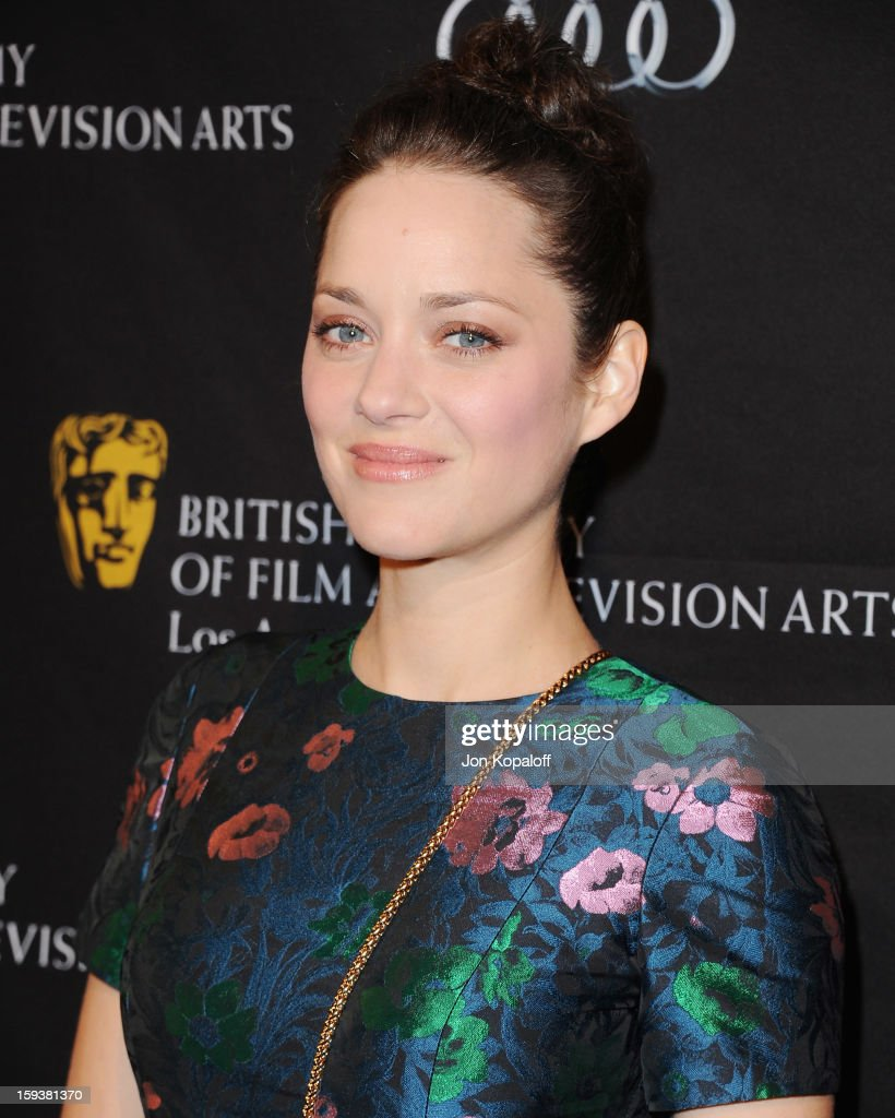 Actress Marion Cotillard arrives at the BAFTA Los Angeles Awards Season Tea Party at Four Seasons Hotel Los Angeles at Beverly Hills on January 12, 2013 in Beverly Hills, California.
