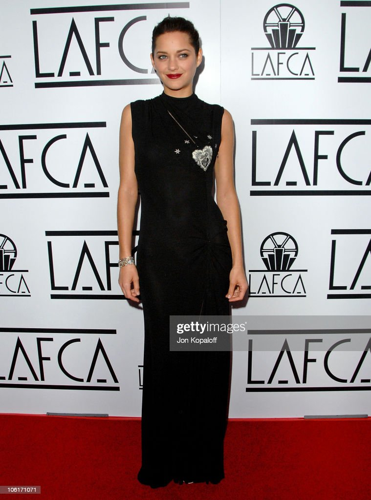 Actress Marion Cotillard arrives to The 33rd Annual Los Angeles Film Critics Awards at the InterContinental Hotel on January 12, 2008 in Century City, California