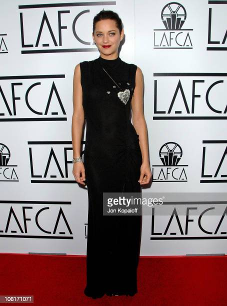 Actress Marion Cotillard arrives to The 33rd Annual Los Angeles Film Critics Awards at the InterContinental Hotel on January 12 2008 in Century City...