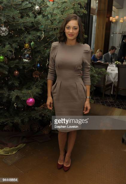 Actress Marion Cotillard attends a luncheon for The Weinstein Company's 'NINE' at Per Se on December 14 2009 in New York New York