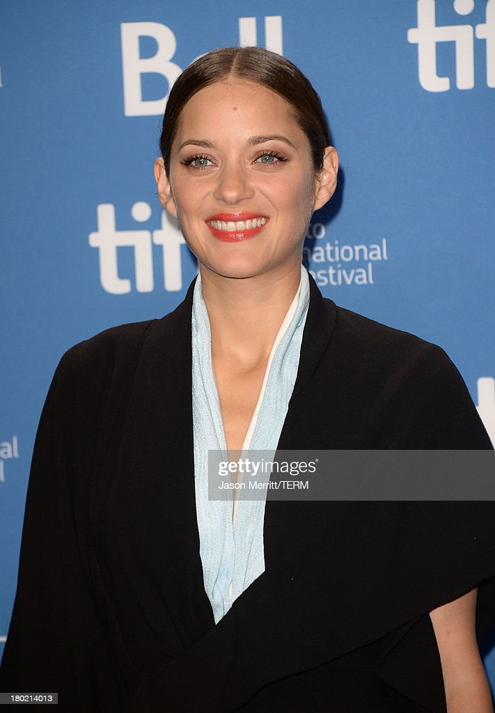 Actress Marion Cotillard attends 'Blood Ties' Press Conference during the 2013 Toronto International Film Festival at TIFF Bell Lightbox on September 10, 2013 in Toronto, Canada.