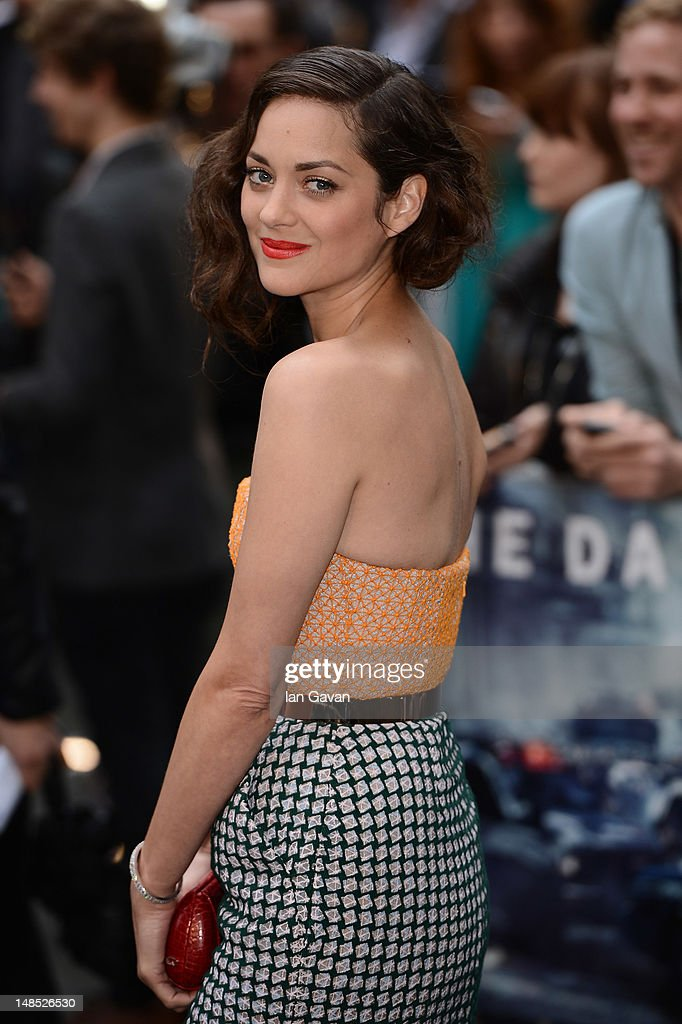 Actress Marion Cotillard attends European premiere of 'The Dark Knight Rises' at Odeon Leicester Square on July 18, 2012 in London, England.