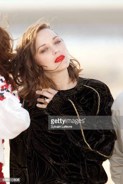 Actress Marion Cotillard attends jury photocall during the 2nd day of 31st Cabourg Film Festival on June 15 2017 in Cabourg France