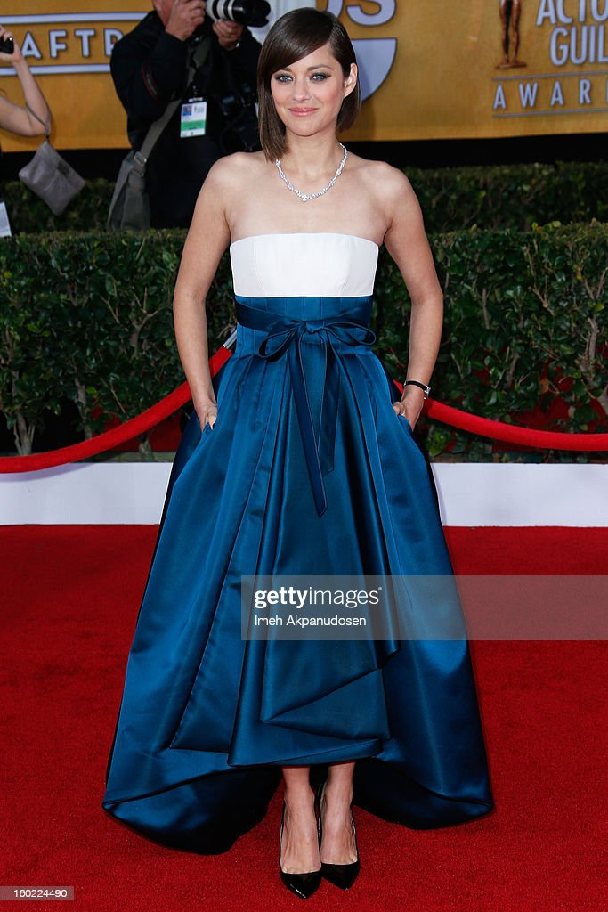 Actress Marion Cotillard attends the 19th Annual Screen Actors Guild Awards at The Shrine Auditorium on January 27, 2013 in Los Angeles, California.