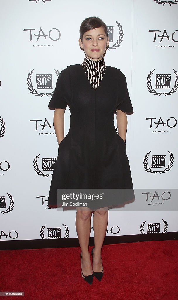 Actress Marion Cotillard attends the 2014 New York Film Critics Circle Awards at TAO Downtown on January 5, 2015 in New York City.