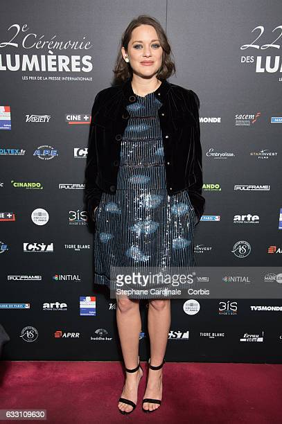 Actress Marion Cotillard attends the 22nd Lumieres Award Ceremony at Theatre de La Madeleine on January 30 2017 in Paris France