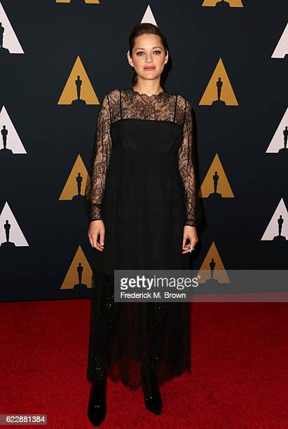 Actress Marion Cotillard attends the Academy of Motion Picture Arts and Sciences' 8th annual Governors Awards at The Ray Dolby Ballroom at Hollywood...