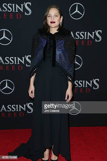 Actress Marion Cotillard attends the 'Assassin's Creed' New York Premiere at AMC Empire 25 theater on December 13 2016 in New York City