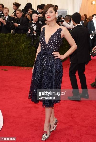 Actress Marion Cotillard attends the 'Charles James Beyond Fashion' Costume Institute Gala at the Metropolitan Museum of Art on May 5 2014 in New...