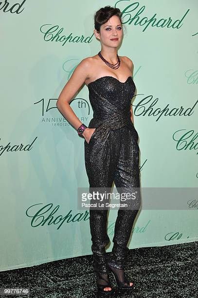 Actress Marion Cotillard attends the Chopard 150th Anniversary Party at Palm Beach Pointe Croisette during the 63rd Annual Cannes Film Festival on...