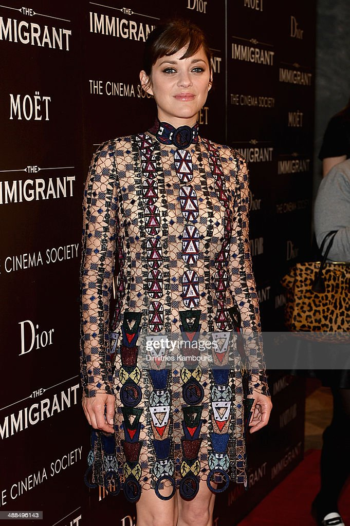 Actress Marion Cotillard attends the Dior & Vanity Fair with The Cinema Society premiere of The Weinstein Company's 'The Immigrant' at The Paley Center for Media on May 6, 2014 in New York City.
