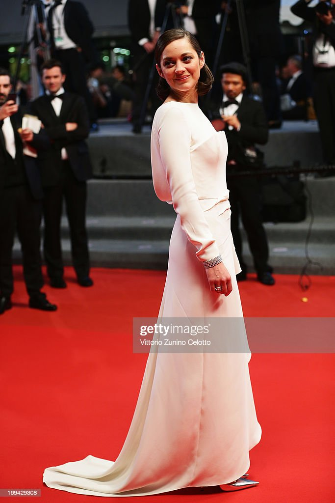 Actress Marion Cotillard attends 'The Immigrant' Premiere during the 66th Annual Cannes Film Festival at Grand Theatre Lumiere on May 24, 2013 in Cannes, France.