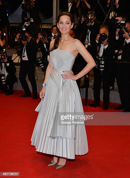Actress Marion Cotillard attends the 'In The Name Of My Daughter' premiere at the 67th Annual Cannes Film Festival on May 21 2014 in Cannes France