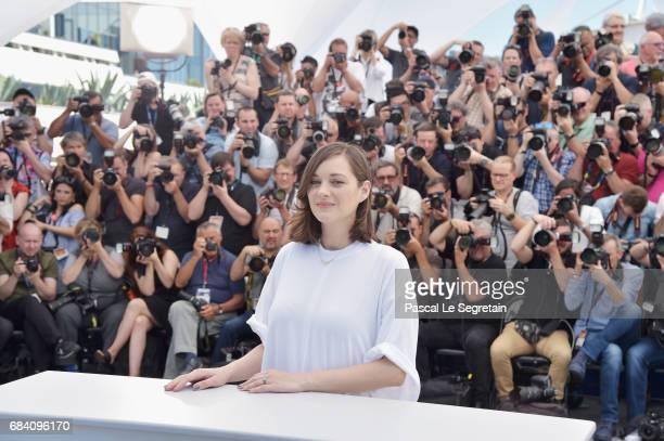 Actress Marion Cotillard attends the 'Ismael's Ghosts ' photocall during the 70th annual Cannes Film Festival at Palais des Festivals on May 17 2017...