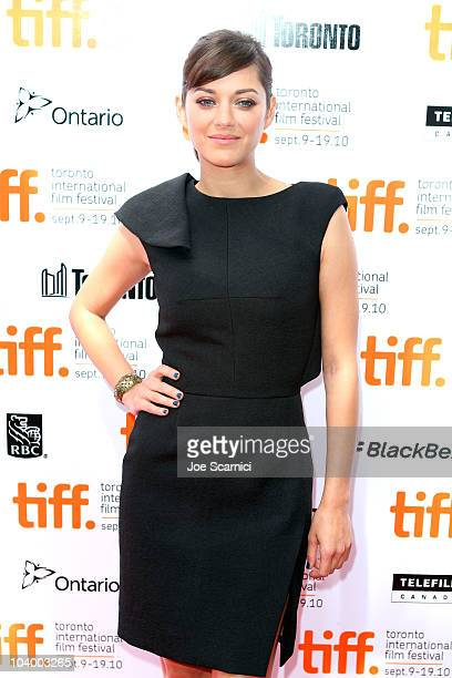 Actress Marion Cotillard attends the 'Little White Lies' Premiere held at Roy Thomson Hall during the 35th Toronto International Film Festival on...