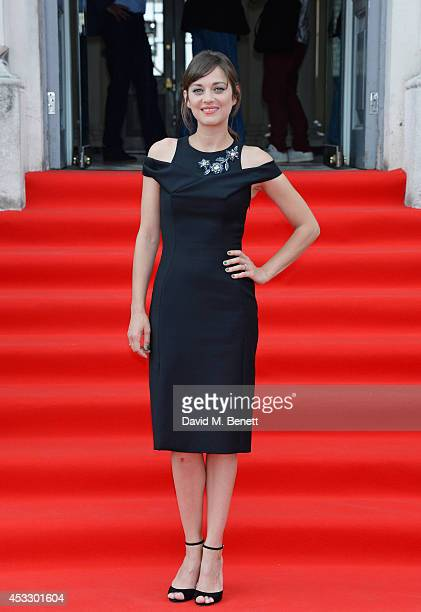 Actress Marion Cotillard attends the Opening Night of the Film4 Summer Screen at Somerset House featuring the UK Premiere of 'Two Days One Night' on...