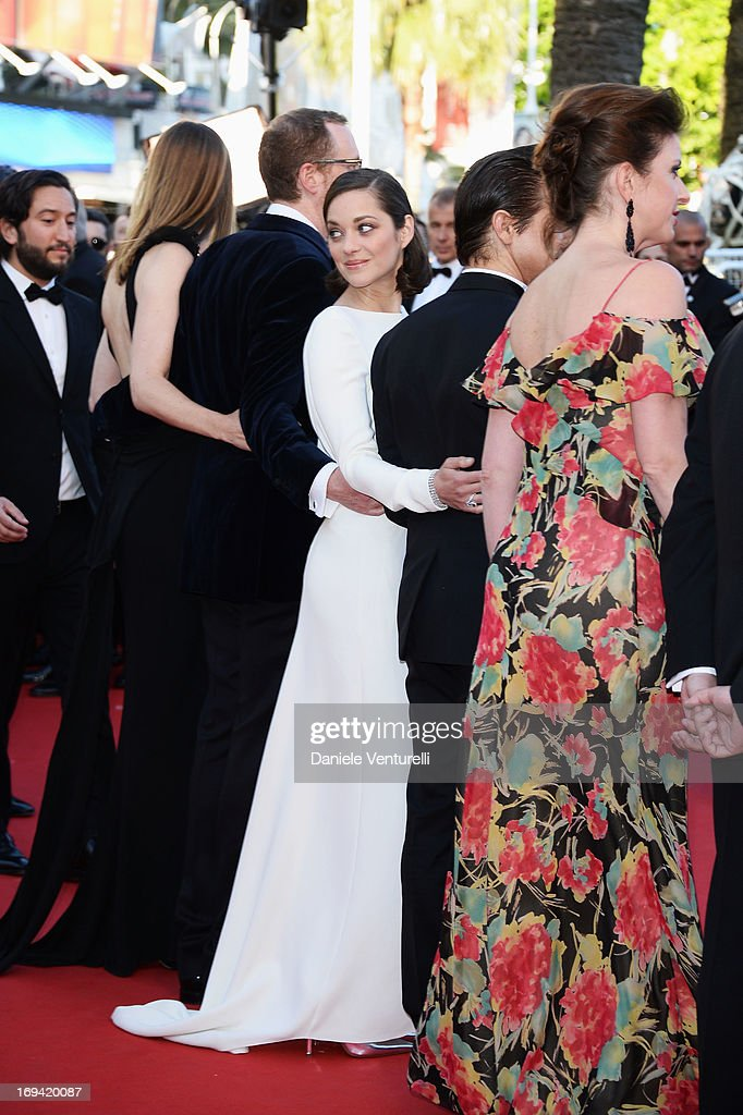 Actress Marion Cotillard attends the Premiere of 'The Immigrant' at The 66th Annual Cannes Film Festival at Palais des Festivals on May 24, 2013 in Cannes, France.