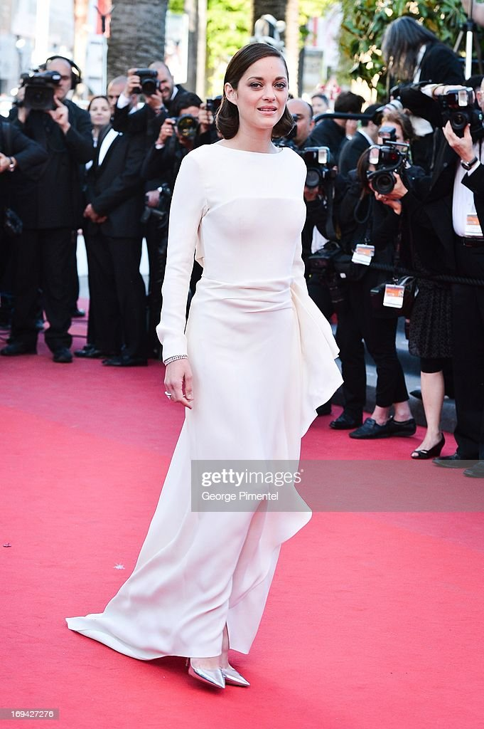 Actress Marion Cotillard attends the premiere of 'The Immigrant' at The 66th Annual Cannes Film Festival on May 24, 2013 in Cannes, France.