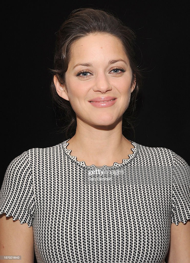 Actress <a gi-track='captionPersonalityLinkClicked' href=/galleries/search?phrase=Marion+Cotillard&family=editorial&specificpeople=215303 ng-click='$event.stopPropagation()'>Marion Cotillard</a> attends the 'Rust And Bone' Luncheon at Brasserie Ruhlmann on November 27, 2012 in New York City.